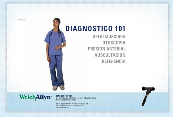 realizar examen diagnostico general welch allyn